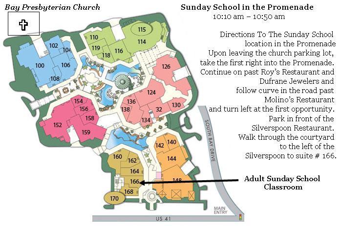 Adult Sunday School Class. Sundays: 10:10 – 10:50 a.m Teacher