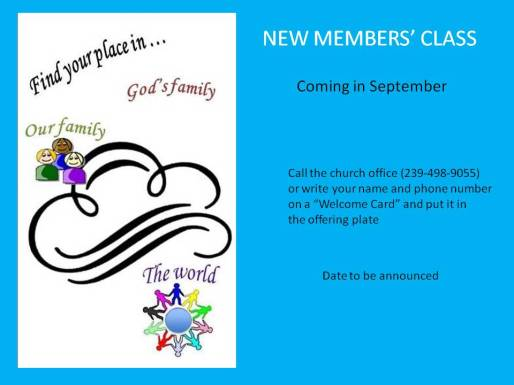 New Members Class 2014