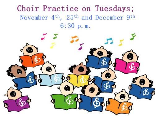 Choir Practices fall 2014