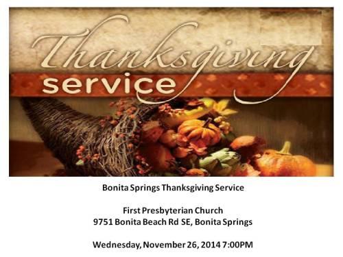 Thanksgiving Service 2014