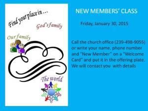 New Members Class 2015