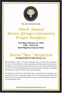 Prayer Breakfast 2015