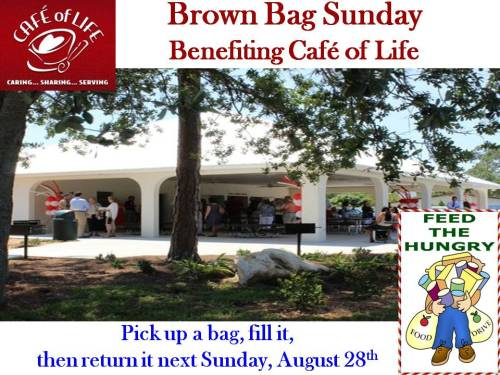 Cafe of Life Brown Bag Sunday Aug 2016